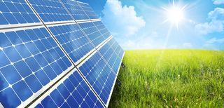 Solar panel and sun (H0345327xD16FB)